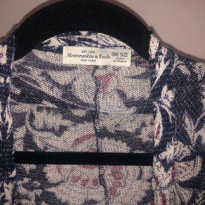 Abercrombie & Fitch floral kimono style cardigan